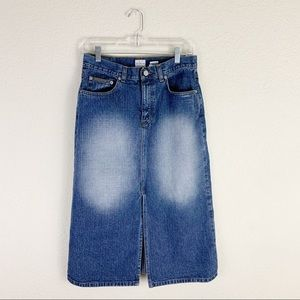 3/$15 Calvin Klein 2000s long denim skirt